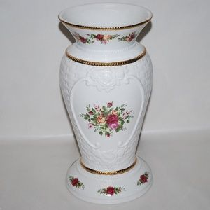 "ROYAL ALBERT OLD COUNTRY ROSE 14"" X-LARGE VASE NEW"